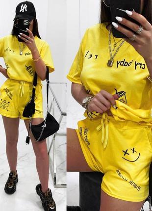 Костюм прогулочный с шортами 4 цвета8 фото