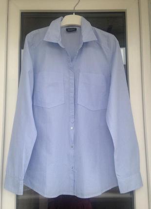 Kookai хлопковая рубашка в полоску размер м