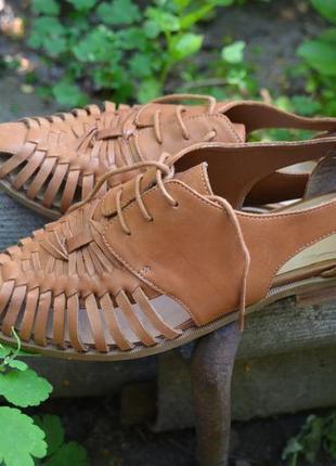 Плетеные мокасины-броги, летние туфли на шнурке, размер 39