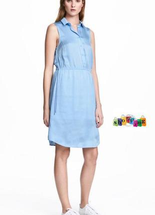 Воздушное платье h&m из атласа 38-м