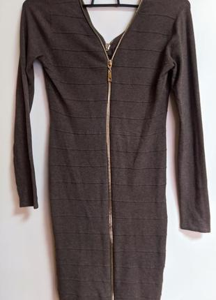 Шикарное платье 👗 на молнии стильное