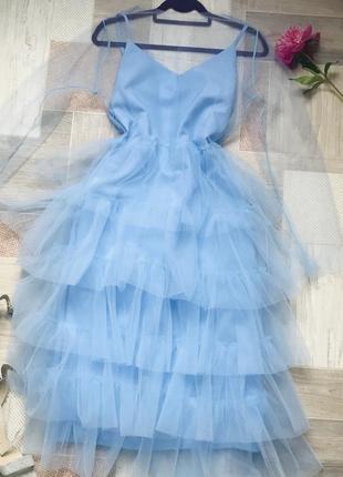 Вечернее платье с воланами платье двойка