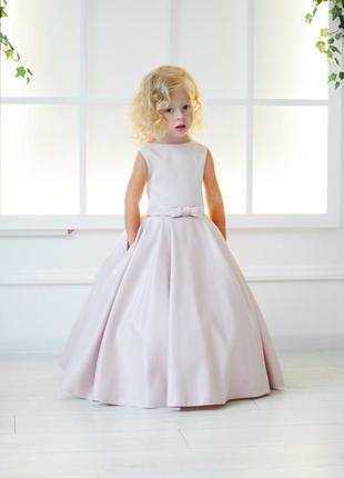 Праздничное атласное платье для девочки «стефани»