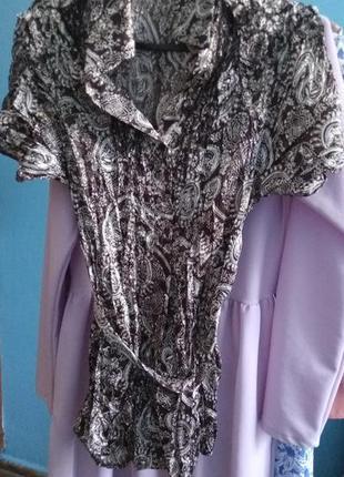 Атласна блуза шовк