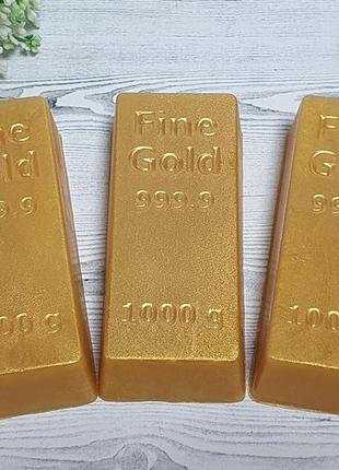 Мыло ручной работы слиток золота. денежное мыло.