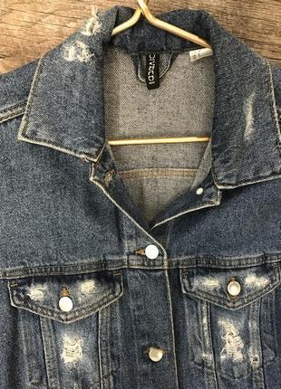 Джинсовая куртка, удлиненный джинсовый пиджак, жакет5 фото