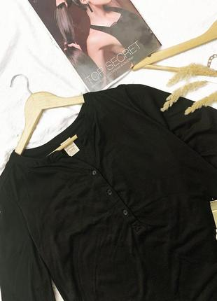 Чёрная кофта -рубашка