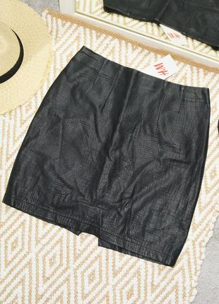 Новая юбка из эко-кожи h&m