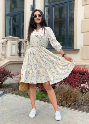 Платье летнее nobilitas 42 - 52 белое софт (мод. 21022)