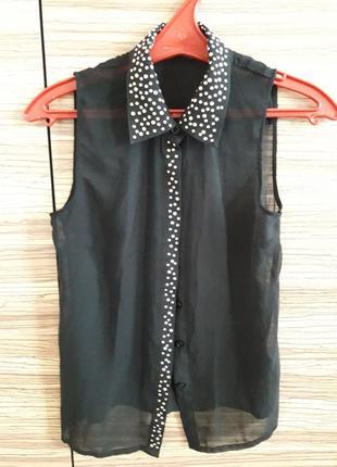 🌞легкая блузка с воротником