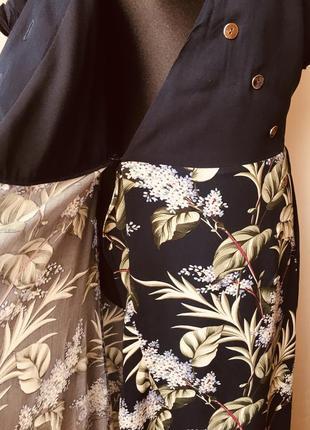 Не реально красивое платье на пуговицах на запах