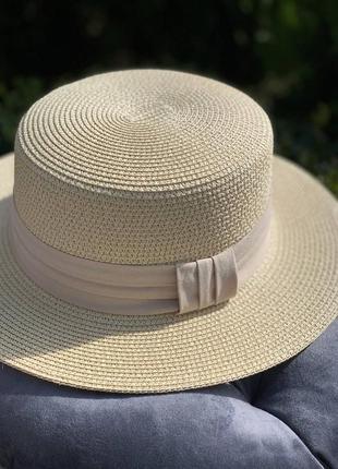 🔥мега популярная солнцезащитная шляпа канотье