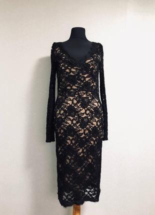 Шикарное нарядное платье миди кружево