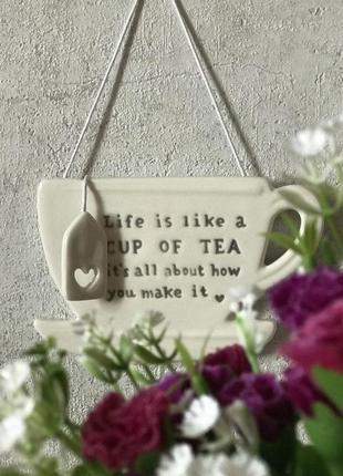 Декор на стену в виде чашки чая