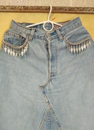Очень крутая класнючая модная актуальная джинсовая юбка levi's
