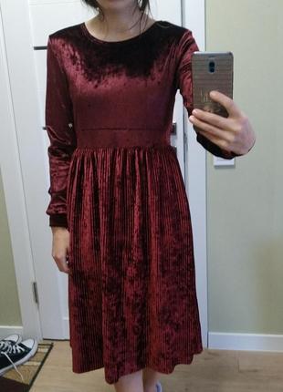 Платье велюрове