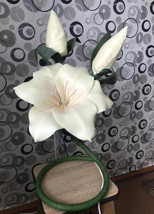 Светильник лилия. ростовые цветы из изолона ручной работы