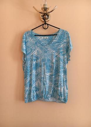 Батал большой размер легкая летняя натуральная футболка футболочка майка