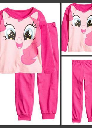 Пижама пижамка розовая мой маленький пони 98-104см от h&m