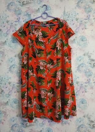 Красивая блузка рубашка большого размера в цветочный принт plus size2 фото