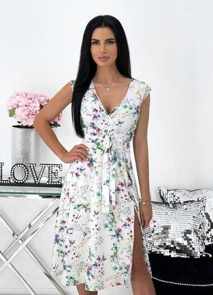 Женское платье миди с принтом