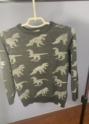 Кофта реглан динозавр для хлопчика для мальчика дино 116