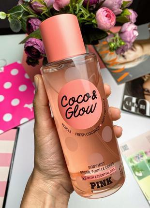 Мист спрей для тела victoria's secret coco& glow