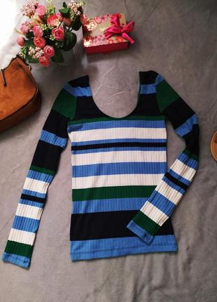 Полосатый свитер stradivarius