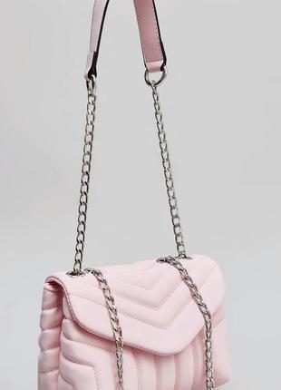 Шикарная нежная мягкая сумка-мессенджер тренд сезона