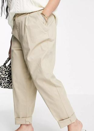 Летние хлопковые укороченные брюки штаны☘️большой размер ☘️супер-батал