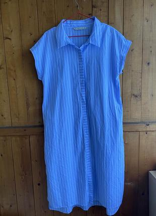 Платье - рубашка в полоску / zara