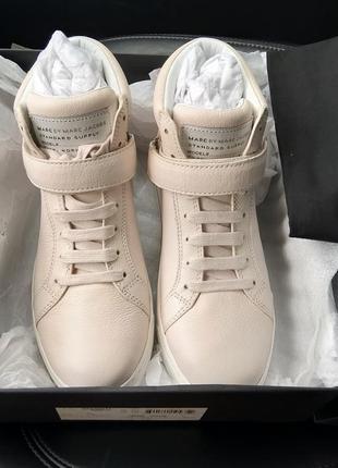 Новые кроссовки marc jacobs хайтопы кеды сникерсы кожа пудра ботинки
