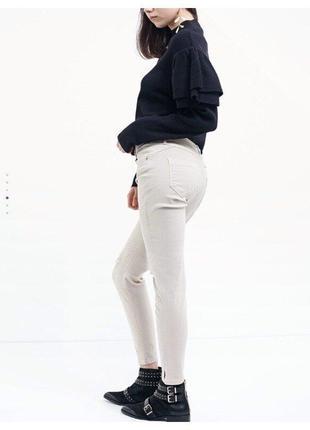 Серые скинни джинсы zara pull&bear s-m eur 38