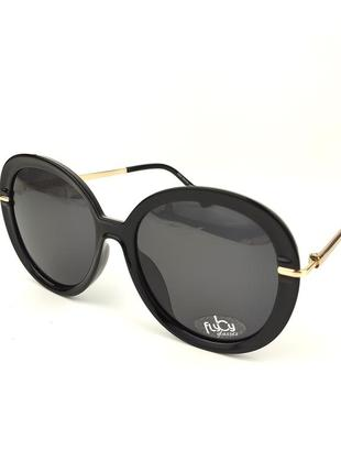 Женские солнцезащитные очки flyby «emma» в черном цвете с линзой серый градиент