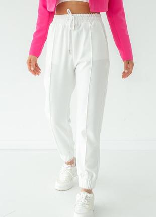 Спортивные штаны со стрелками, цвет белый (2 цвета)