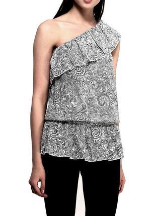 Блуза с баской летняя без рукавов - блуза туника