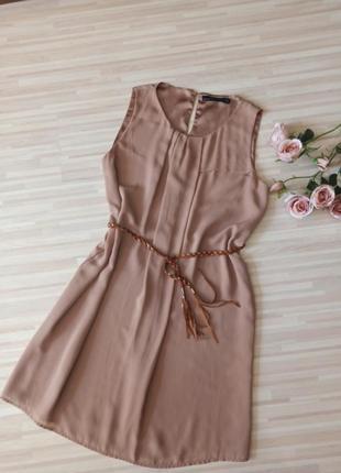 Шикарное платье в пастельных тонах zara