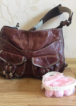 Роскошная удобная брендовая кожаная сумка, francesco biasia,натуральная кожа италия