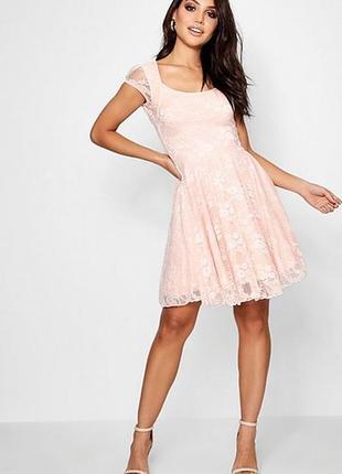 🌷🌷🌷новое, красивое кружевное, гипюровое женское короткое платье boohoo🌷🌷🌷