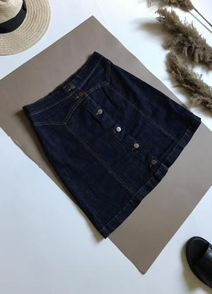 Джинсовая юбка мини р.xs h&m