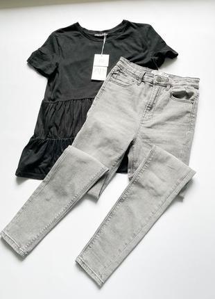Сірі джинси stradivarius