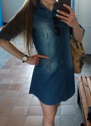 Платье-рубашка. джинс, турция.