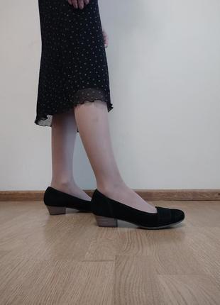 Туфлі натуральна замша