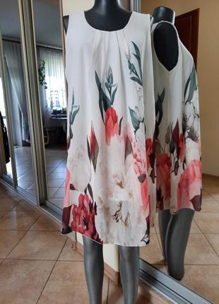 Нежное в цветы 💐на подкладке платье 👗маленького размера
