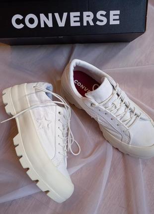 Кеды белые на высокой подошве/ converse, оригинал.