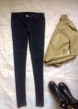 Джеггінси джинсові темного морського кольору, р.м-s