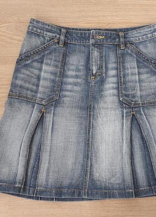 Джинсовая юбка женская, 40-42, l-xl esprit