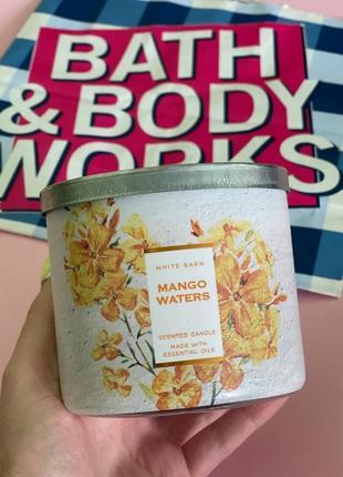Парфюмированная свеча mango waters от bath and body works