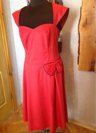 Милейшее платье с бантиком в стиле ретро, турция, р. 48-50