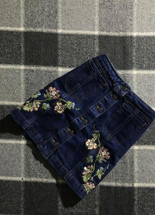 Женская джинсовая юбка topshop